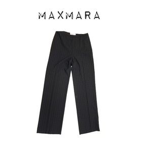 Maxmara Virgin Wool Pinstripe Trouser Pants